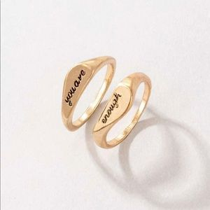 Gold You Are Enough Rings